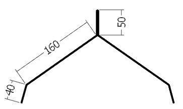 Hřebenáč pro hromosvod, rš. 500 mm, tl. 0,6 mm - Al lakovaný