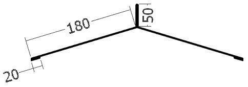 Hřebenáč pro hromosvod na perforovanou lištu, rš. 500 mm, tl. 0,6 mm - Al přírodní