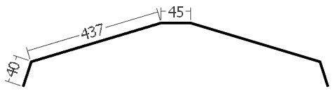 Hřebenáč na lať, rš. 1000 mm, tl. 0,6 mm - Al lakovaný