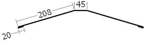 Hřebenáč na lať na perforovanou lištu, rš. 500 mm, tl. 0,6 mm - Al lakovaný