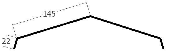 Hřebenáč pro falcovanou krytinu, rš. 330 mm, tl. 0,7 mm - Al přírodní