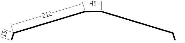 Hřebenáč na lať, rš. 500 mm, tl. 0,6 mm - Al lakovaný