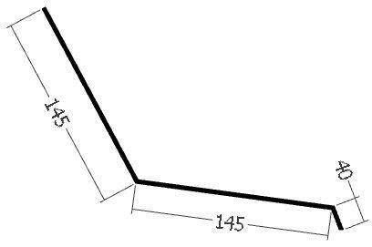 Přechodová lišta, rš. 330 mm, tl. 0,6 mm - Al lakovaný
