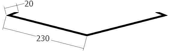 Úžlabí, rš. 500 mm, tl. 0,6 mm - Al lakovaný